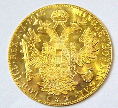 Authentic 1915 Australia 4 Ducat Proof-like Gold Coin -Natural Luster both sides