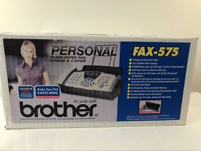 New Sealed Brother FAX-575 Plain Paper Fax Phone & Copier Free Shipping NIB