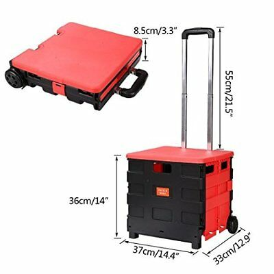Meditool Two-Wheeled Rolling Crate Cart Folding Hand Utility Cart/Collapsible