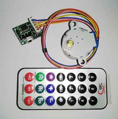 DC 5V 4-phase 5-wire Stepper Motor +Remote Control Speed Wireless+Driver Board