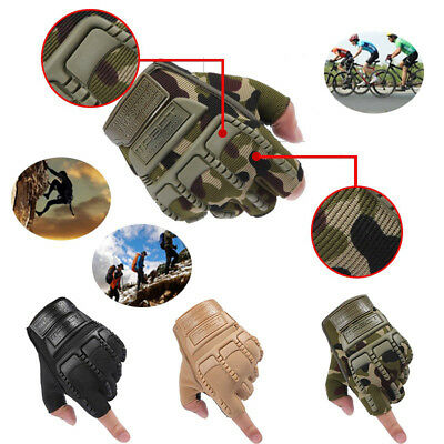 LK_ Lot MEN'S MILITARY OUTDOOR TACTICAL COMBAT BICYCLE AIRSOFT FINGER GLOVES O