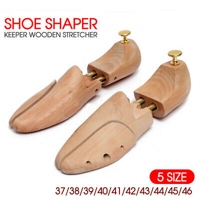 Adjustable Wooden Shoe Tree Shaper Keeper Wood Stretcher Men/Women Cedar
