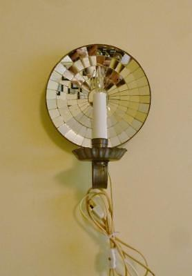 Wonderful Vintage Handcrafted New England Mirrored Electric Candle Wall Light.