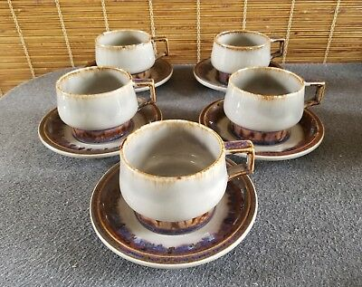 Bing & Grondahl Denmark Mexico (5) Cup And Saucer Sets