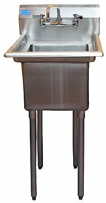 AmGood Commercial Stainless Steel Sink - 1 Compartment Restaurant Kitchen Prep