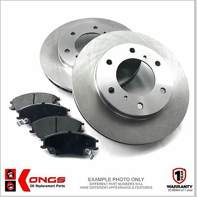 Front Brake Pad + Disc Rotors Pack for MITSUBISHI TRITON MK 276mm 2002-On