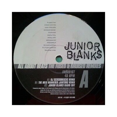 "12"": Junior Blanks - All About Beats - The Fused & Bruised Remixes - Fused & Bru"
