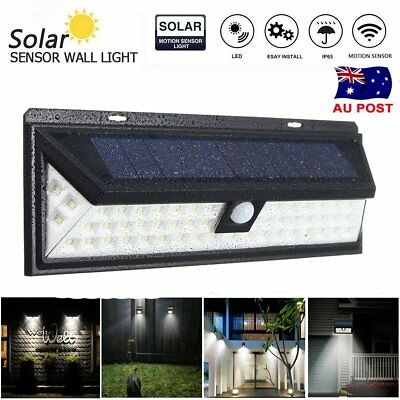 Waterproof 54 LED Solar Power PIR Motion Sensor Wall Light Outdoor Lamp Garden