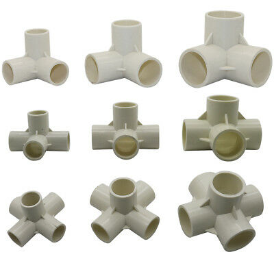 5 Pcs 20/25/32mm Three-Dimensional PVC Connector DIY Tool 3/4/5 Way Tube Adapter