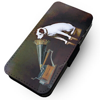 His Masters Voice - Printed Faux Leather Flip Phone Case #2 -Music Retro Vintage