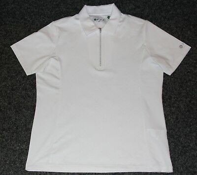 """Backtee Damen Polo Shirt """"Embossed Polo"""" , weiß, Gr. L"""