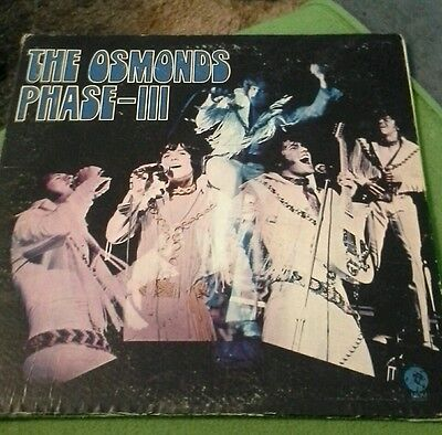 1971 The Osmonds Phase – Iii Vinyl Lp Record By Mgm Records