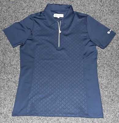 """Backtee Damen Polo Shirt """"Embossed Polo"""" , navy, Gr. M"""