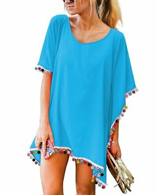 7b92938b2a Clothing, Shoes & Jewelry GDKEY Women Chiffon Tassel Swimsuit Bikini  Stylish Beach Cover up