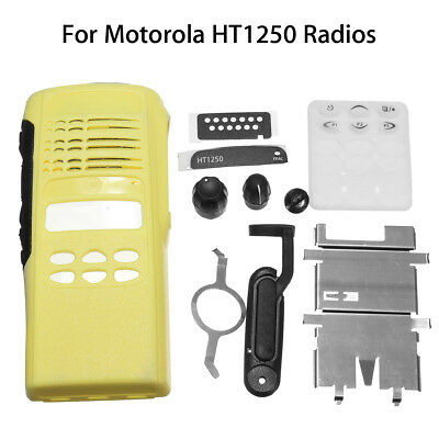 Yellow Repair Housing Case Replacement For Motorola HT1250 Limited-keypad Radios