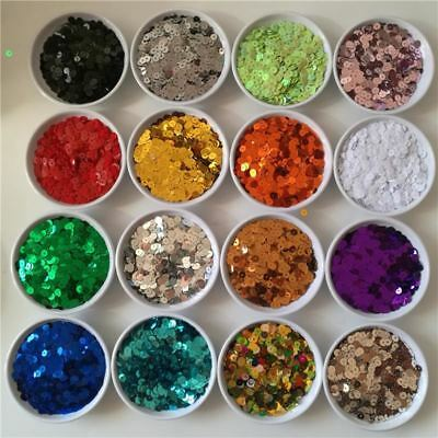3 4 5 6 mm Flat Round PVC Loose Sequins Sewing Craft Wedding Decoration Clothes