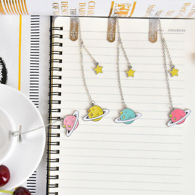 1PC Cute Star Pendant Bookmark Stationery School Office Supply Color Random WH