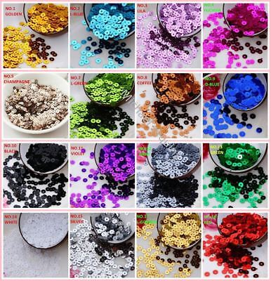 4000pcs(20g) Silver-Based 4mm Flat round pvc loose sequins Paillette sewing Wedd