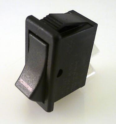 Arcoelectric C1500VT T125 Black Rocker Switch 16A 250VAC SPST On / Off OMQ1-2-11