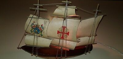 VINTAGE WOODEN  SHIP LAMP - MADE  HOLLAND good working order Santa Rosa bakelite
