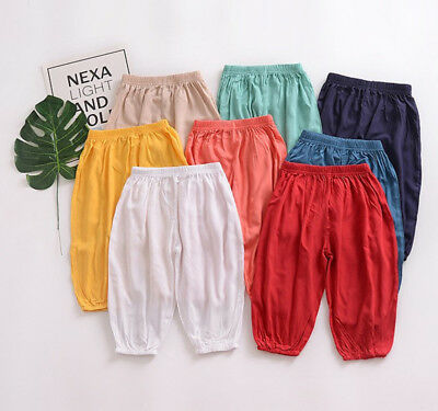 AU Newborn Baby Boy Girl Harem Pants Trousers Toddlers Jogging Bottom Sweatpants