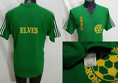 Northern Columbus Athletic Assoc SOCCER Coach Elves Jersey Shirt XL Vtg 80s Ohio