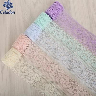 10yard/lot 40mm 8 colors Lace Ribbon DIY Embroidered Net Lace Trim Fabric For Se