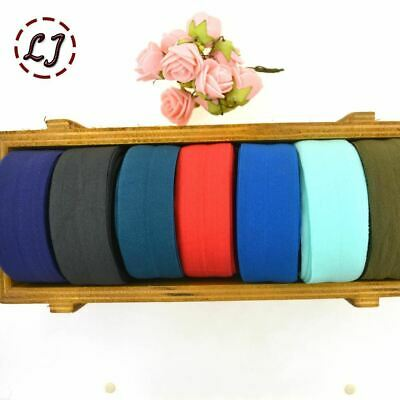 1''(25mm)  hair tie making foe band fold over elastic ribbon webbing solid headw