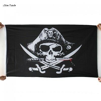 Skull and Cross Crossbones Flag 3x5FT Sabres Swords Jolly Roger Pirate Flags NEW