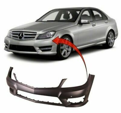 Mercedes C-Class W204 Saloon 2011-2014 Front Bumper Primed W/ Pdc No Washer Amg