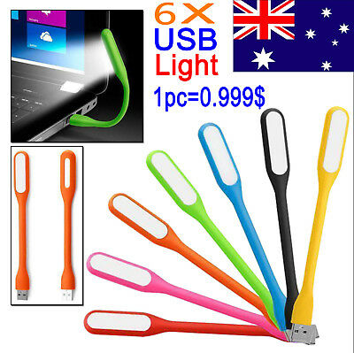 6X Flexible Bright Mini USB LED Light Lamp For Computer Notebook PC Laptop Read