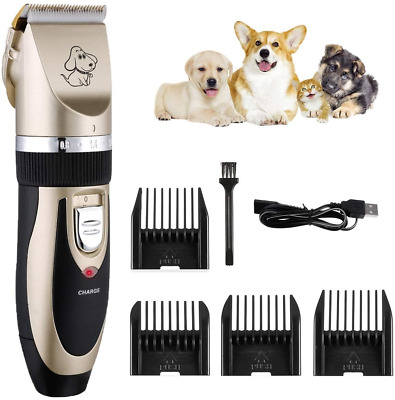 Pet Shave Clipper Hair Low Noise Cordless Electric Dog Cat Grooming Trimming L49