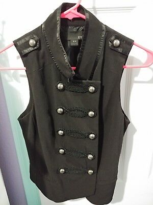 black double breasted vest steampunk victorian