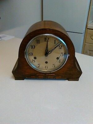 Vintage Small Napoleon Hat Clock with Westminster Chimes (693)
