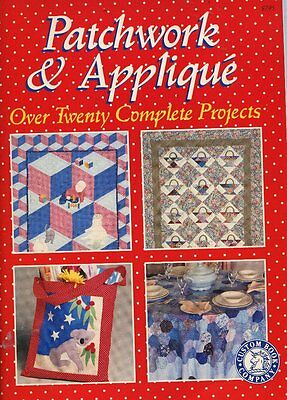 PATCHWORK AND APPLIQUE BOOK - Over Twenty Complete Projects