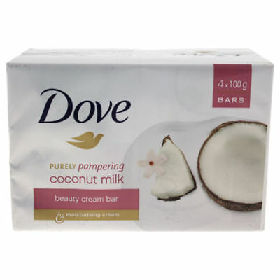 4 X Dove Purely Pampering Coconut Milk Beauty Cream Bar Soap 118.0 ml Skincare