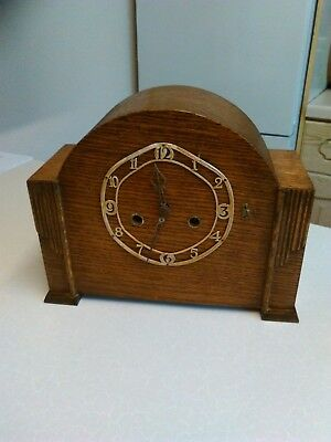 Vintage 'Enfield' Chiming Mantle Clock with Oak Case - Spares or Repair (694)