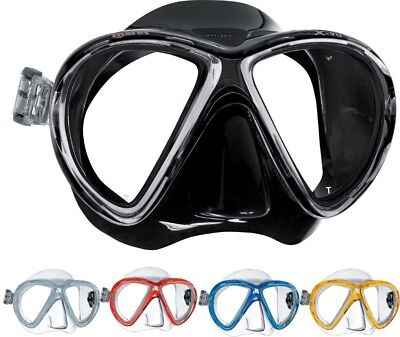MARES X-VU Scuba Dive Snorkelling MASK with SILICONE Skirt  Pressure Relief Ribs