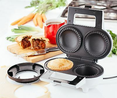 Judge Electric Deep Pie Maker, Non-Stick Easy Clean 2 Fruit or Meat Pies