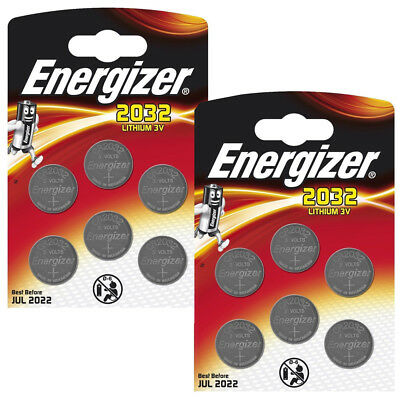 Genuine Energizer 12 X Cr2032 3V Lithium Coin Cell Battery Dl2032, Br2032 Sb-T15