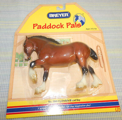 Breyer Paddock Pals #1604 Clydsdale/Blood Bay Horse New In Original Package