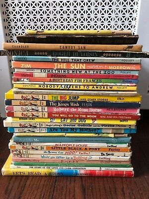 Lot of 29 Vintage 1944 - 1978 Children's Hardcover Picture & Learn to Read Books