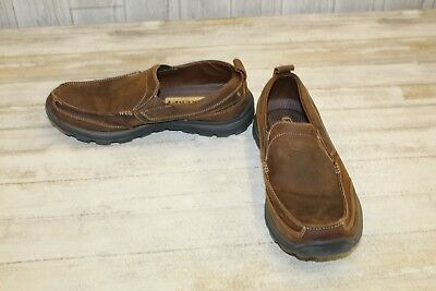 0b8e6869b533af SKECHERS RELAXED FIT Superior Gains Leather Loafers, Men's Size 13 ...