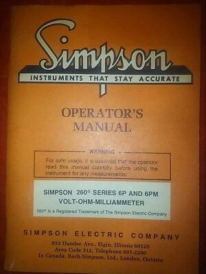 simpson 260-6P and 6PM  operator's manual