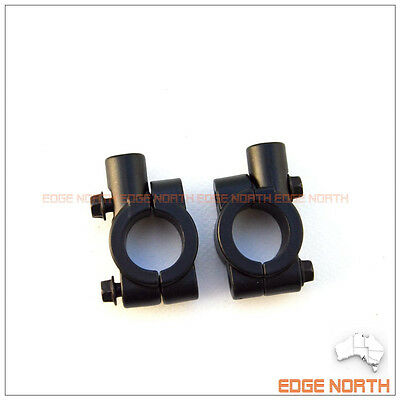 """Mirror mount adapter clamp 2x 7/8"""" 10mm for Universal motorcycle 22mm handlebar"""