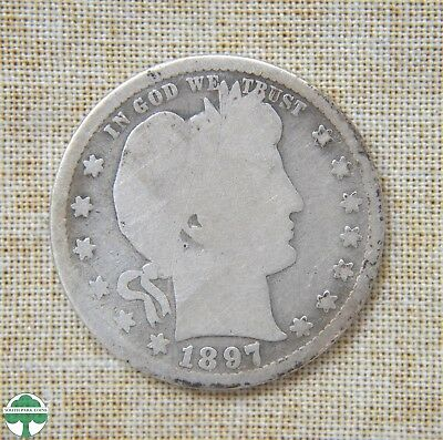 1897-S Barber Quarter -  Good Details