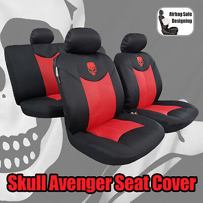 Swell Universal Size Front Set Car Seat Covers Black With Gothic Evergreenethics Interior Chair Design Evergreenethicsorg