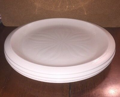 "4 Franciscan SEA SCULPTURES WHITE SAND DOLLAR 10 1/2"" Dinner Plates"