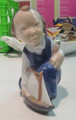 Royal Copenhagen Figurine #3272 Little Boy With Sailboat  - Excellent Condition