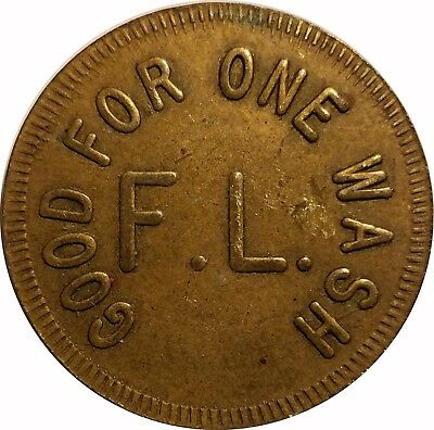 Good For One Wash F. L. Frederick, Maryland MD 225 Serial Number Trade Token